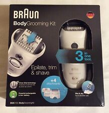 Men's Braun BGK7050 Body Grooming Kit Wet & Dry Epilate Trim Shave 3 in One Tool