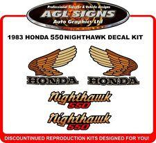 1983  HONDA 550 NIGHTHAWK  DECAL SET, reproductions  650