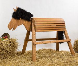 Holzpferd,Voltigierpferd,Pferd- bew.Kopf,ca.115 cm OHNE AUFSTIEGLEISTEN Kastanie