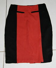 Womens size 6 black & orange fitted stretchy skirt made by PORTMANS
