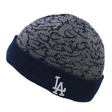 New Era LA Dodgers Kids Junior Elephant Jordan Print Winter Knit Beanie Hat
