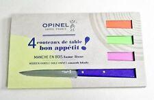 OPINEL SET 4 COLTELLI DA TAVOLA N.125 MOD. POP ACCIAIO INOX SANDVIK 12C27