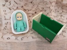 Vintage Little Tykes Dollhouse Baby with Crib and Chair