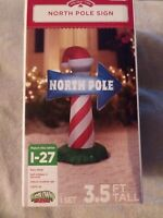 NEW! In Box! Christmas Inflatable North Pole Sign Airblown Yard Decor 3.5 FT