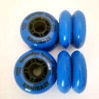 8x Hi-Lo 76mm 80mm Indoor-Outdoor Inline Skate Wheels rollerblade roller hockey