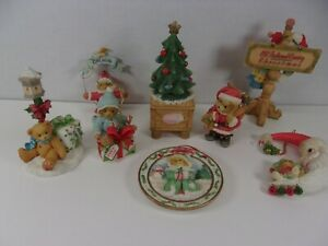 Cherished Teddies LOT CHRISTMAS-SANTA EXPRESS,CHRISTMAS TREE,ORNAMENTS
