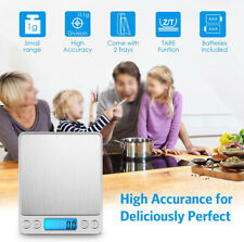2000g LCD Digital Kitchen Scale with 2pcs tray Electronic Weight Food Balance