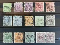 Wurttemberg 1875-1894, 15 stamps, used, with some good values