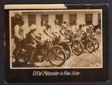 117848 Foto DKW Motoren Motorrad in Klein Asien 1928 Rasmussen
