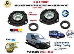 FOR VW VOLKSWAGEN CADDY 2004-2015 2X FRONT SHOCKER TOP STRUT MOUNTINGS + BEARING