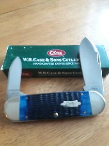 Case XX 6250 Elephant Toe Pocket Knife Fantastic Blue Bone. 2006