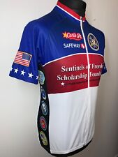 VOLER Veteran's Victory Velo USA Cycling Jersey Shirt Retro Short Sleeve L