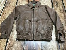VINTAGE NEW ZEALAND OUTBACK COOPE COLLECTION LEATHER BOMBER JACKET MENS LARGE