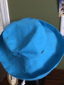 Scala Women's Wide Brim Hat NWT Blue Teal Collezione UPF 50+ Sun Protection Adj.