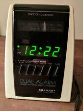 Sharp Clock Radio FX-C24 Dual Alarm Vintage Digital