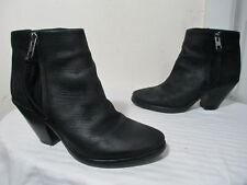 ALLSAINTS JONAS WMN'S BLK LEATHER BOOTIES ANKLE BOOTS 37 US 6.5 MADE IN PORTUGAL