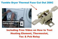 CANDY GCC 590NB-80 Tumble Dryer thermostat 206c Thermal Cut Out Fuse