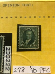 US Stamps Scott 278 with pfc