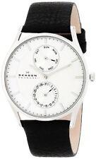 Skagen Holst SKW6065 Men's Wrist Watch Black Leather Strap USA Seller Fast Ship