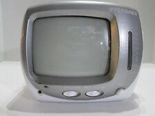 Vintage Sylvania Portable Black & White Tv w/ Am/Fm Radio Model Srt069