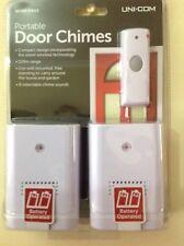 Uni-Com Portable Wireless  Door Bell Chime twin pack 120m range