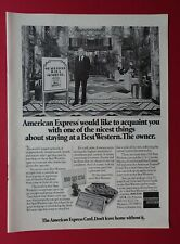 1975 American Express Card Staying at a Best Western AD