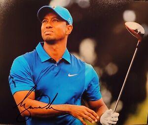 SIGNED Tiger Woods Autograph 8x10 Photo Original w COA Golf PGA Masters