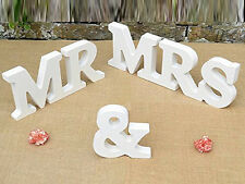 NEW 1 Set Wedding Decoration Wood Letters Mr & Mrs Present Table Decor