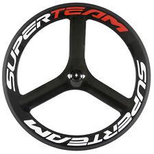 Tri Spoke Rear Wheel 65mm Depth Road Bike 3 Spoke Carbon Wheel 700C Superteam