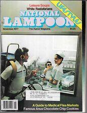 NATIONAL LAMPOON THE HUMOR MAGAZINE NOVEMBER 1977 (VG)