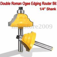 1/4'' Shank Roman Ogee Double Edging Router Bit Woodworking Chisel Cutting