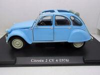 COCHE CITROEN 2 CV 4 1976 ESCALA 1/24 1:24 MODEL CAR LEO MODELS ITALY ITALIA