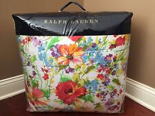 RALPH LAUREN Watch Hill QUEEN COMFORTER Blue SATEEN Red Yellow White FLORAL NWT
