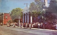Vintage Postcard Tazewell County COURTHOUSE Tazewell VIRGINIA 1960s + Parade