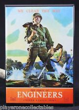 "U.S. Army Corps of Engineers WWII Poster 2"" X 3"" Fridge / Locker Magnet."