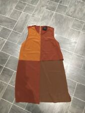 ZARA SPECIAL EDITION SIZE LARGE 3 SHADES OF BROWN SLEEVELESS  DRESS