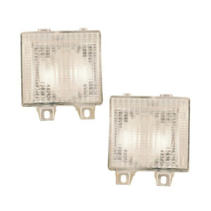 Corner Signal Lights Pair Set for 83-88 Chevy Blazer/Jimmy (Full Size)/Rally Van