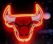 """Chicago Bulls Neon Sign Lamp Light 14""""x10"""" 3D Acrylic With Dimmer"""