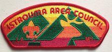 ISTROUMA AREA COUNCIL OA 479 PATCH LA MS MINT RED STITCH BOY SCOUT BSA CSP
