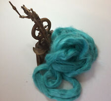 Medi Blue Dyed Flax Linen Top Vegan Spinning Fiber 100 grams roving sliver
