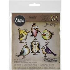 Sizzix Thinlits Tim Holtz Die Set 18pk Bird Crazy 660954