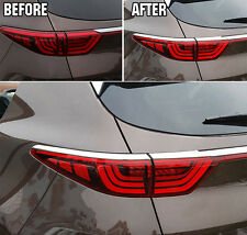 FIT FOR 2017- KIA SPORTAGE REAR TAIL LIGHT LAMP TRIM CHROME COVER EYELID BEZEL