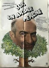 LOUIS DE FUNES   SUR UN ARBRE PERCHE Rare Original 1971 MOVIE POSTER