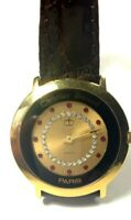 18KY Electroplated Christian Bernard Unisex watch with red and white stone dial