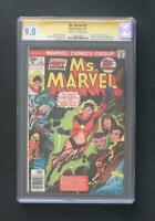 MS MARVEL #1 CGC 9.0 SS SIGNED STAN LEE 1ST CAROL DANVERS AS MS. MARVEL CAPTAIN