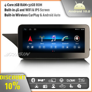 """10.25"""" Android 10 Car Stereo GPS Sat Nav Mercedes Benz E-Class W212 NTG IPS DAB+"""