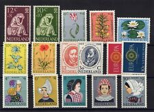 PAYS-BAS: ANNEE COMPLETE 1960 DE 16 TIMBRES NEUF** YTN°717/732 Cote: 60,00 €