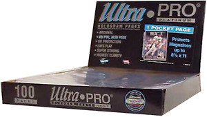 """Ultra Pro 1-Pocket Platinum Page with 8-1/2"""" X 11"""" Pocket 100 ct."""