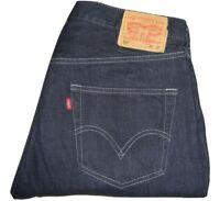 Mens Levi's 501 Dark Blue Denim Jeans W36 L32 Straight Leg