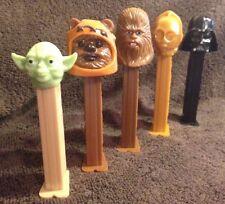 Star Wars Pez Collection - Yoda - Ewok - Chewbacca - C3PO - Darth Vader - Cool